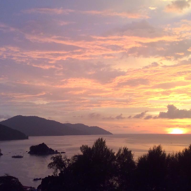 Sunset from Penang Island - Malaysia
